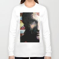 johnny cash Long Sleeve T-shirts featuring Johnny Cash by Glen Ronald