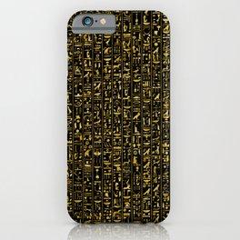 Hieroglyphics GOLD iPhone Case