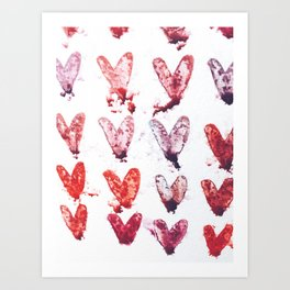 Hearts on hearts on hearts. Art Print