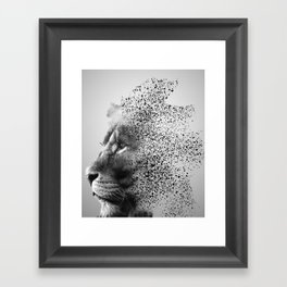 Inside a lions mind Framed Art Print