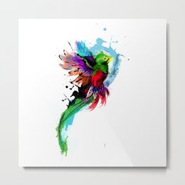 Watercolor Quetzal  Metal Print