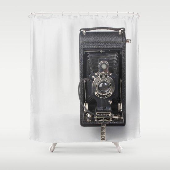 Retro Kodak - Camera Shower Curtain by Jean Ladzinski | Society6