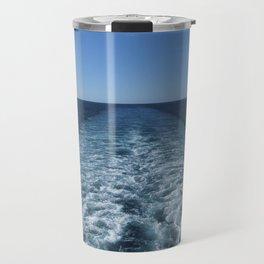 SEA BLUE WAKE AND HORIZON - Pacific Ocean Travel Mug