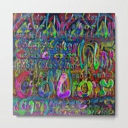 color pattern Metal Print