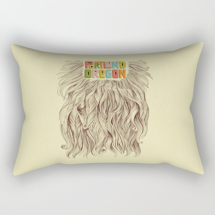 Portland = Beards Rectangular Pillow