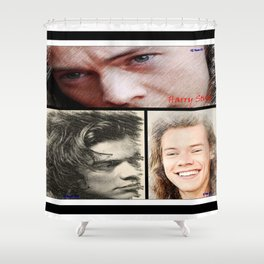 Harry Styles, One Direction, 1D, 1dFanArt Shower Curtain
