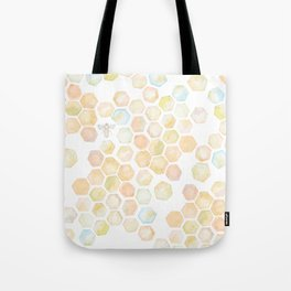 Bee and honeycomb watercolor Tote Bag