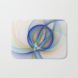 Colorful Design, Modern Fractal Art Bath Mat