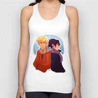 kakashi Tank Tops featuring Parallel by Nowhere Little Girl