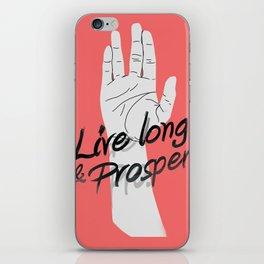 Live long and prosper iPhone Skin