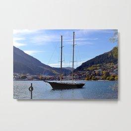 Boat in Wakatipu Metal Print