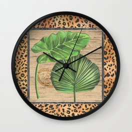 Tropical Palms 1 Wall Clock
