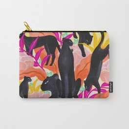 Black Panthers in Exotic Garden Carry-All Pouch