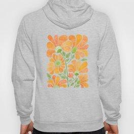 Happy California Poppies / hand drawn flowers Hoody