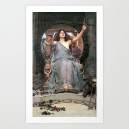 Circe offering the Cup to Odysseus - John William Waterhouse Art Print
