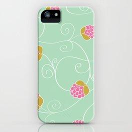 Raspberry Patch Aqua iPhone Case