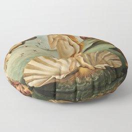 The Birth of Venus (Nascita di Venere) by Sandro Botticelli Floor Pillow