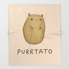 Purrtato Throw Blanket