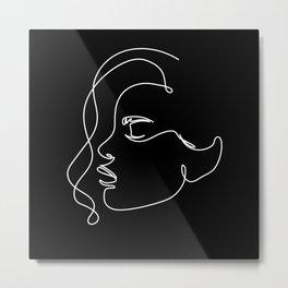 Abstract Artist Portrait Woman Face Metal Print