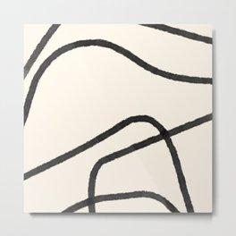 Thick Continuous Line Series 1 | Boho Home Decor, Modern Wall Art, Continuous Line Art, Contour Line Metal Print