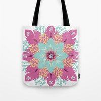 om Tote Bags featuring Om by zakumy