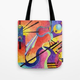 Modern Abstract Low Poly Geometric Triangles After Kandinsky Tote Bag
