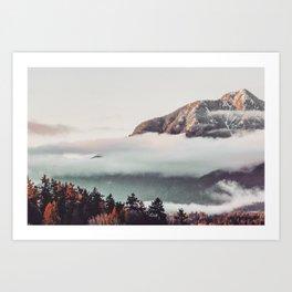 Mt Cloudy Art Print