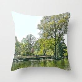 Lake at Central Park - NYC Throw Pillow