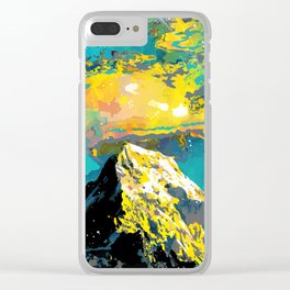 Mountain Love Clear iPhone Case