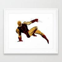 daredevil Framed Art Prints featuring DareDevil by Alexander Perez