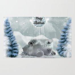 Cute polar bear baby Rug