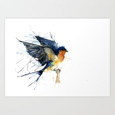 Swallow 3 Art Print