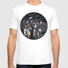 Meowlin Temple Mens Fitted Tee White MEDIUM