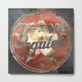 Texan - Vintage Label Metal Print