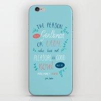 jane austen iPhone & iPod Skins featuring Jane Austen - Good Novel by Abbie Imagine