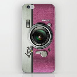 Lens SP200 - Pink Camera iPhone Skin