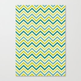 Citronique Series: Chevron Grand Sorbet Glacé Canvas Print