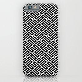 Isometric Sayagata iPhone Case