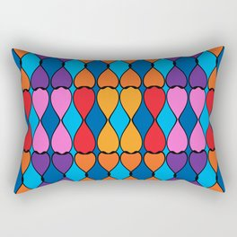 Heart Meets Teardrop Multi Pattern Rectangular Pillow