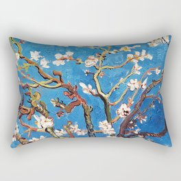 Van Gogh Branches of an Almond Tree in Blossom Rectangular Pillow