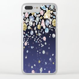 Fallling Gems Clear iPhone Case