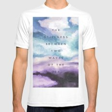 Stillness [Collaboration with Jacqueline Maldonado] Mens Fitted Tee White MEDIUM