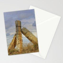Kansas  Corner Stone Post Fence Stationery Cards