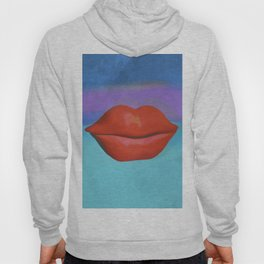 Red lips. Hoody