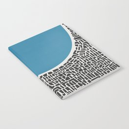 Abstract Blue Lake Notebook