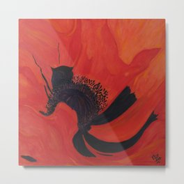 Dancing Poppy Metal Print