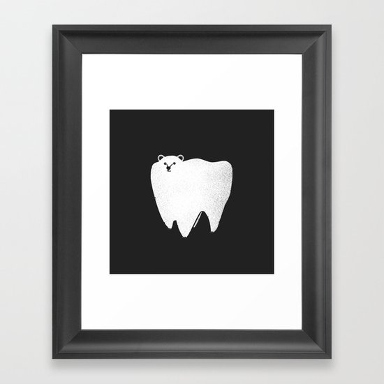 Molar Bear Framed Art Print