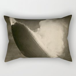 The Hindenburg hits the ground in flames in Lakehurst, N.J. Rectangular Pillow