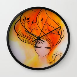 Fire Within Wall Clock