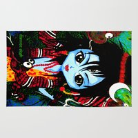 shiva Area & Throw Rugs featuring Baby Shiva by Manvee Singh